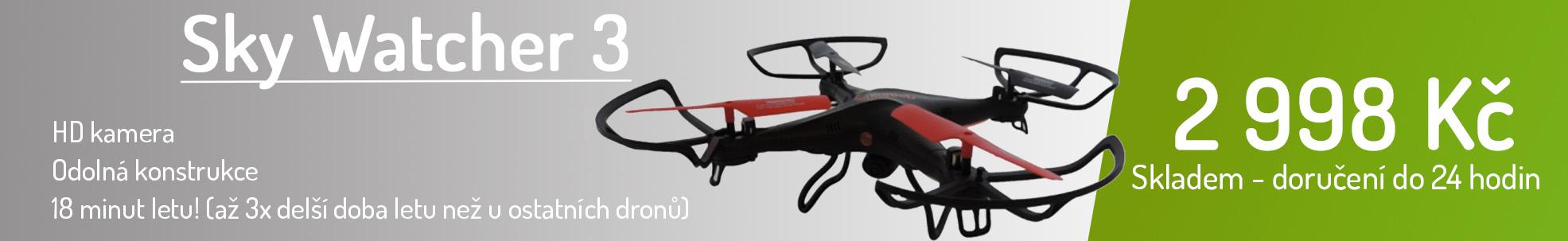 Sky Watcher 3 - RC dron, HD kamera, skladem