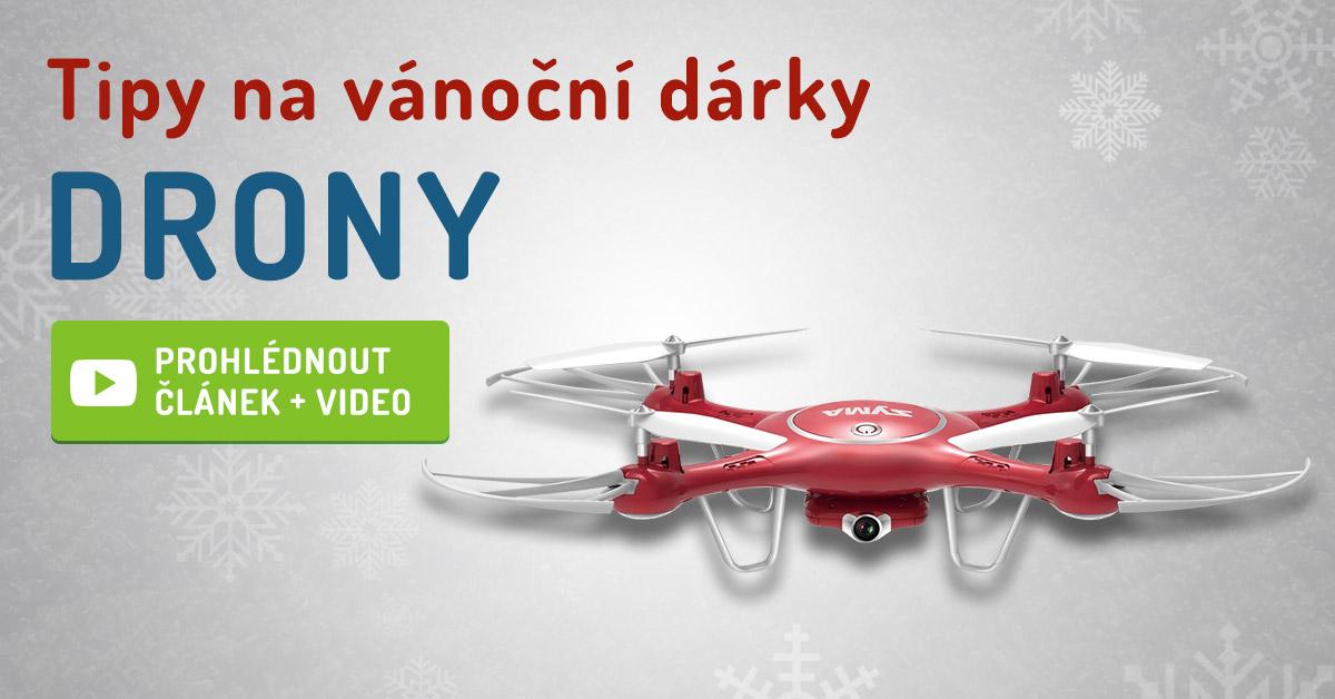 Tipy na vánoční dárky DRONY