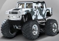 Mini RC Monster Truck, bílá maskáčová