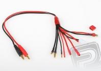 7986 nabíjecí kabel COMBO (Dean-T, gold 2, 3.5, 4, Tamiya)