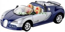 RC auto mini kovové - modré Bugatti