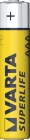 Baterie Varta AAA 1,5V R03 mikrotužkové Superlife