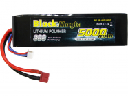 Black Magic LiPol Car 11.1V 5000mAh 30C Deans