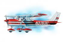 Cessna 150 (610mm) laser.vyřezávaná