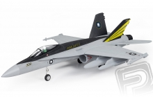 F-18 Hornet 710mm s EDF 64mm ARF šedý