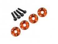 LaTrax - Podložka disku hliník oranžový, šroub M3x12mm CS (4)