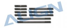 Ocelové táhla/spojovačky, sada (9ks.) pro T REX 550E