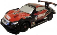 RC Car závodní model s kužely 1:43, černočervený