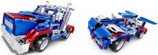 RC stavebnice kamion a sporťák 2v1, modrá