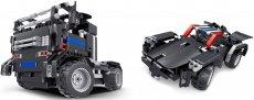 RC stavebnice kamion a sporťák 2v1, černá