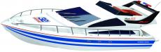 RC loď Atlantic Yacht, modrá