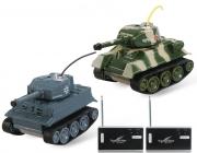 RC tanky mini bojující Tiger vs T-34