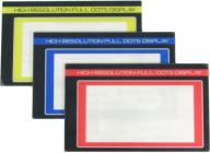 SANWA M12 barevné LCD-Panely, sada modrá, žlutá a červená