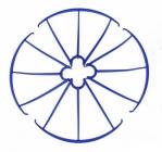 Syma X5C-03M kryty rotorových listů, modrá
