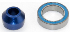 Traxxas hliníkové pouzdro ložiska modré, ložisko 10x15x4mm