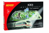MEHANO Speed train ICE3 s maketou tratě