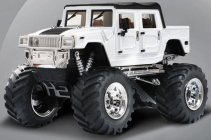 Mini RC Monster Truck, bílá