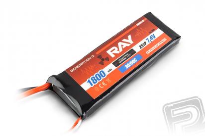 G3 - LC RAY Li-Pol 1800mAh/7,4 30/60C Air pack 13,3Wh