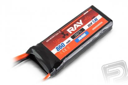 G3 RAY Li-Pol 860mAh/7,4 30/60C Air pack 6,5Wh