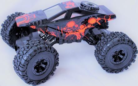 RC auto Crawler 4WD RTR, červenočerná