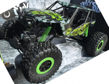 RC auto Rock Crawler 1:10, zelená