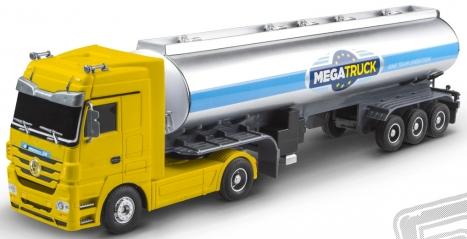 RC kamion cisterna Mercedes Benz - žlutá
