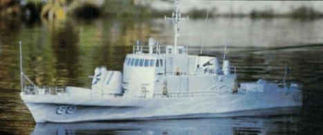 RC loď USS Crockett