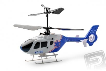 RC vrtulník EC 135, bílo-modrá
