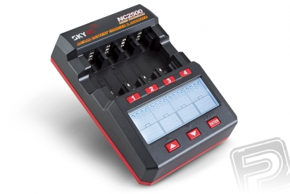 SKY RC NC2500 nabíječ 4x 1čl. AA/AAA NiCd/NiMH