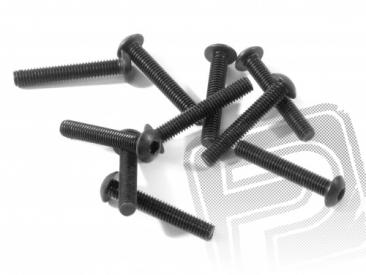 Šroub s plochou hlavou M3x18mm (10ks.) Imbus