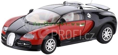 RC auto mini kovové - černé Bugatti