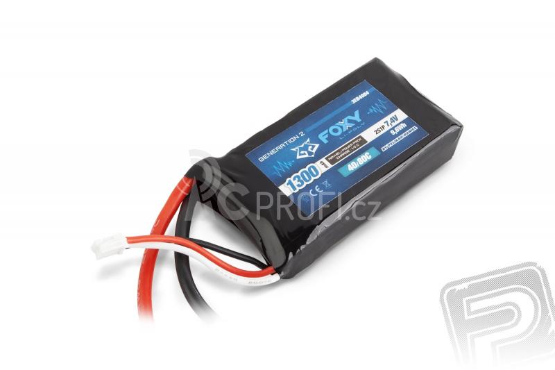 FOXY G2 - LC Li-Pol 1300mAh/7,4V 40/80C 9,6Wh