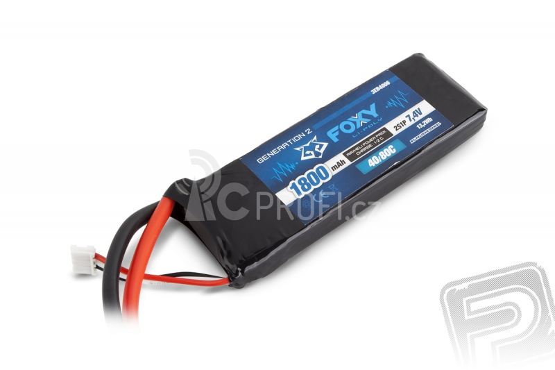 FOXY G2 - LC Li-Pol 1800mAh/7,4V 40/80C 13,2Wh