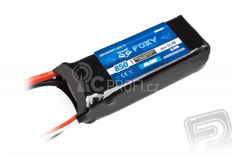 FOXY G2 Li-Pol 850mAh/11,1V 40/80C 9,4Wh