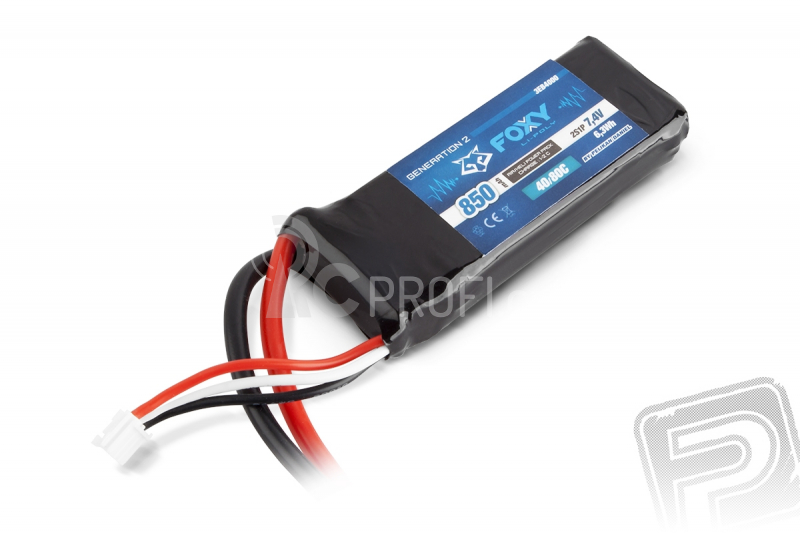 FOXY G2 Li-Pol 850mAh/7,4V 40/80C 6,3Wh