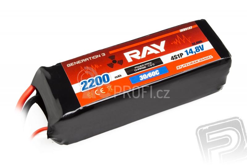 G3 - LC RAY Li-Pol 2200mAh/14,8 30/60C Air pack 32,5Wh