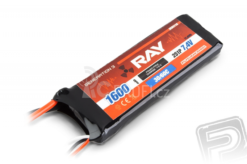 G3 RAY Li-Pol 1600mAh/7,4 30/60C Air pack 11,8Wh