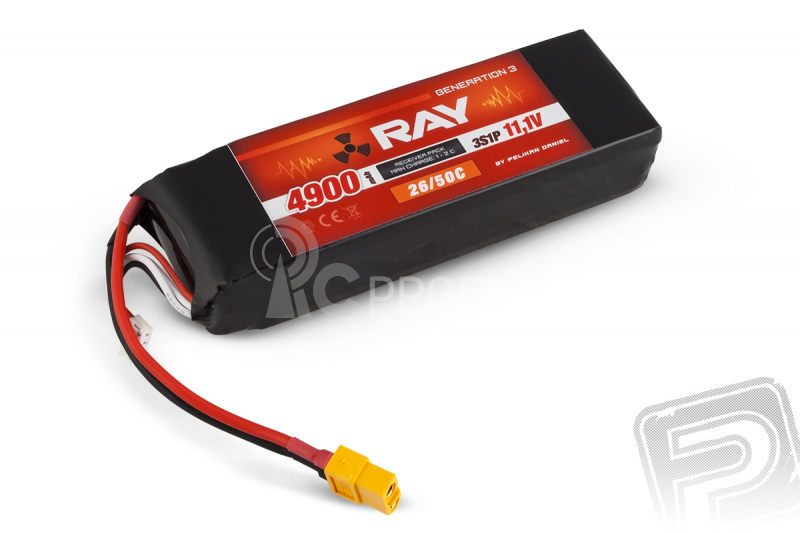 G3 RAY Li-Pol 4900mAh/11.1 26/50C Air pack XT60 zásuvka