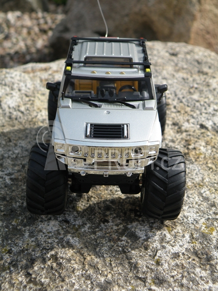 Mini RC Monster Truck, stříbrná