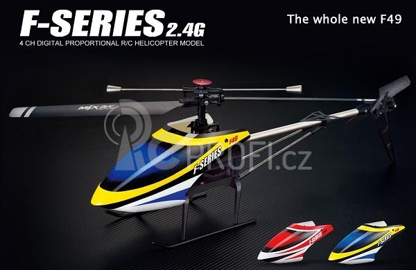 RC vrtulník MJX F-49, žlutá