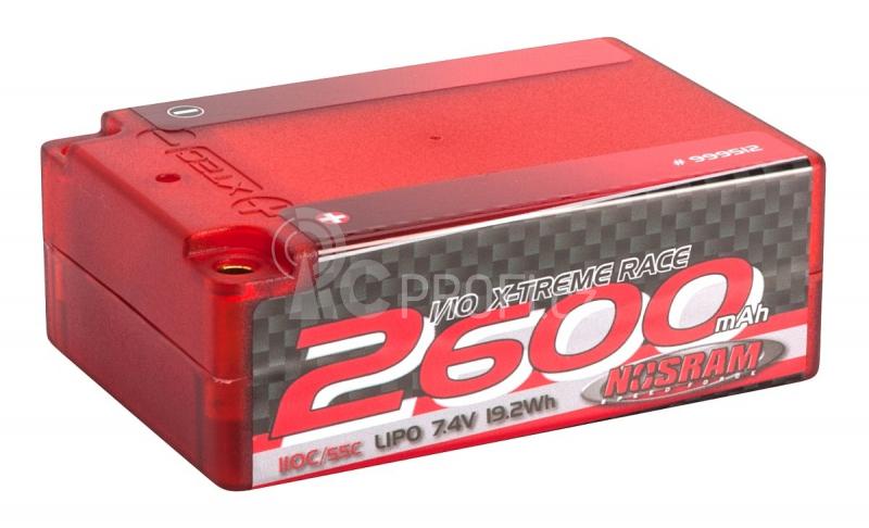 NOSRAM 2600 - Super Shorty - 110C/55C - 7.4V LiPo - 1/10 Competition Car Line Hardcase