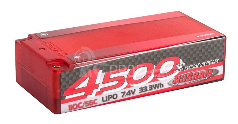 NOSRAM 4500 - Shorty - 110C/55C - 7.4V LiPo - 1/10 Competition Car Line Hardcase