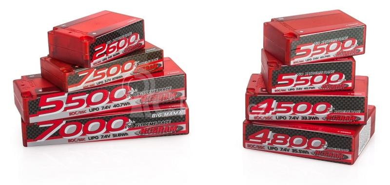 NOSRAM 5500 - Saddle Pack - 110C/55C - 7.4V LiPo - 1/10 Competition Car Line Hardcase