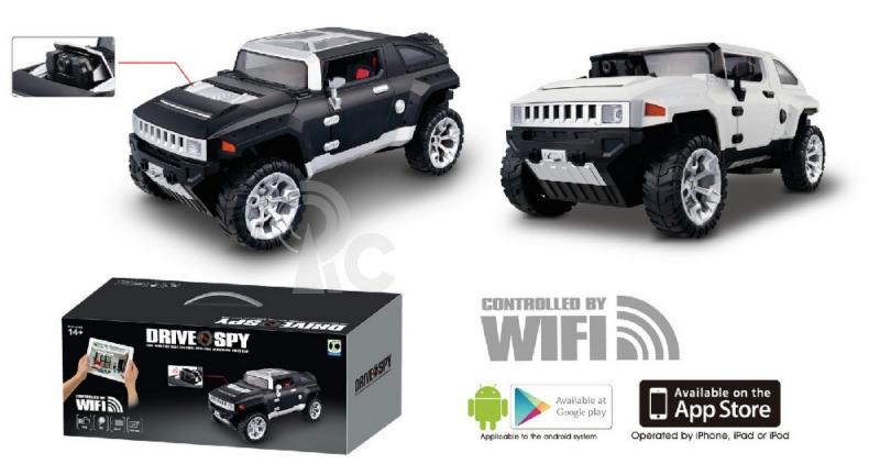 RC špionážní auto DRY SPY WIFI s kamerou, bílé