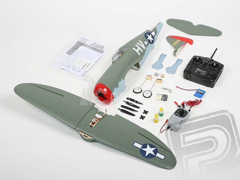 RC letadlo P-47 Thunderbolt SC - mód 1