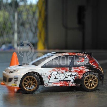 RC auto Losi Micro-Rally Car 1:24 4WD, bílý/červený