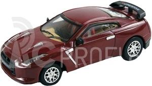 RC auto mini kovové - vínový Nissan