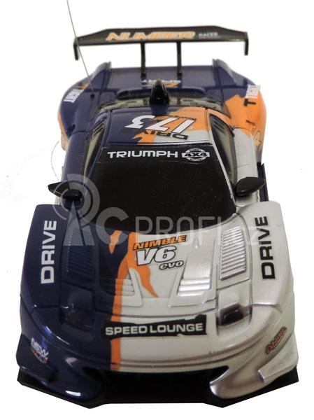 RC Car závodní model s kužely 1:43, modrý
