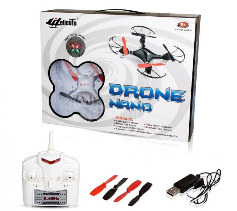 RC dron NANO, bílá