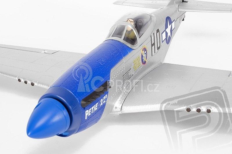 RC letadlo P-51 Mustang (Baby WB)  - mód 1 stříbrný